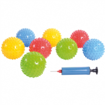 Set of 25 Spikey Balls with pump
